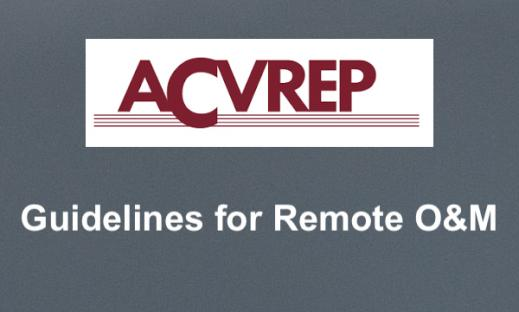"ACVREP logo and text, ""Guidelines for Remote O&M"""