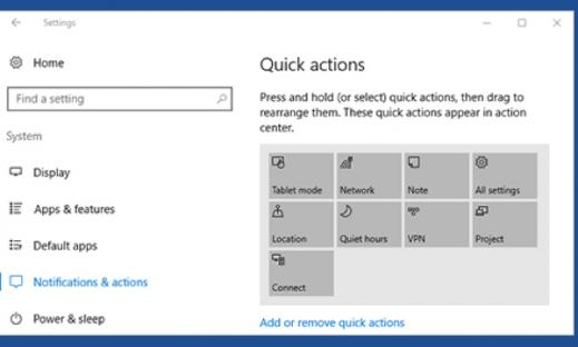 Windows 10 JAWS Text Tutorial: Notification Area and Action Center