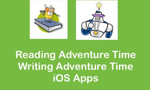 Reading Adventure Time and Writing Adventure Time App logos