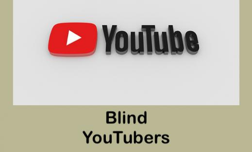 "Youtube logo and text, ""blind YouTubers"""