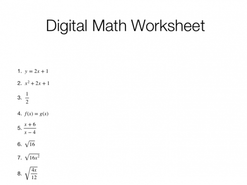 Creating Digital Math Worksheets that can be Accessed on Windows – Parentheses Math Worksheets