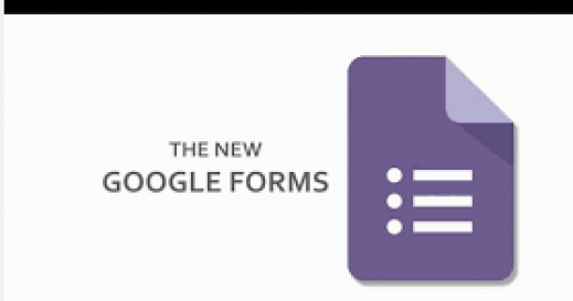 Google Forms Logo:  Purple page with three horizontal lines.