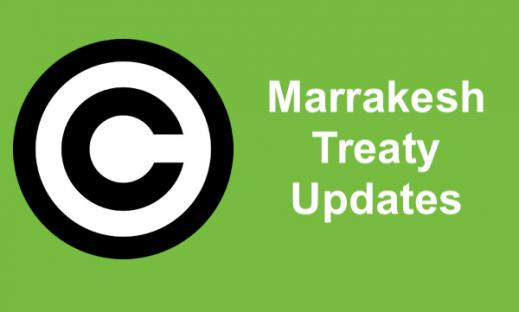 """Image of copyright symbol and text, """"Marrakesh Treaty Updates"""""""