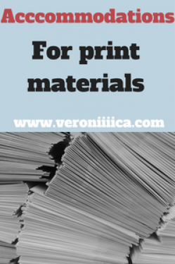 Accommodations for print materials: from one low vision student's perspective