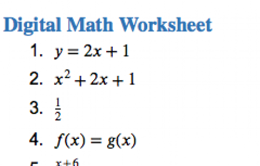 How to Read Math Expressions with a Screen Reader on a Windows – Expressions Math Worksheets