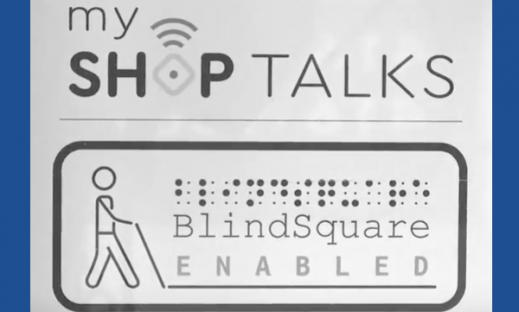 My ShopTalks: BlindSquare Enabled logo