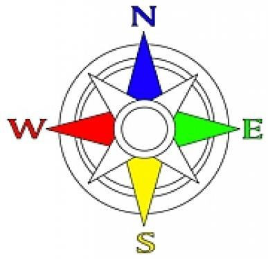 the use of blindsquare to teach compass directions paths to
