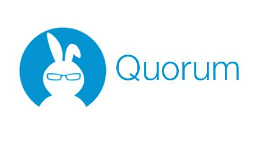 Quorum logo: Quorum is a free, accessible programming language.