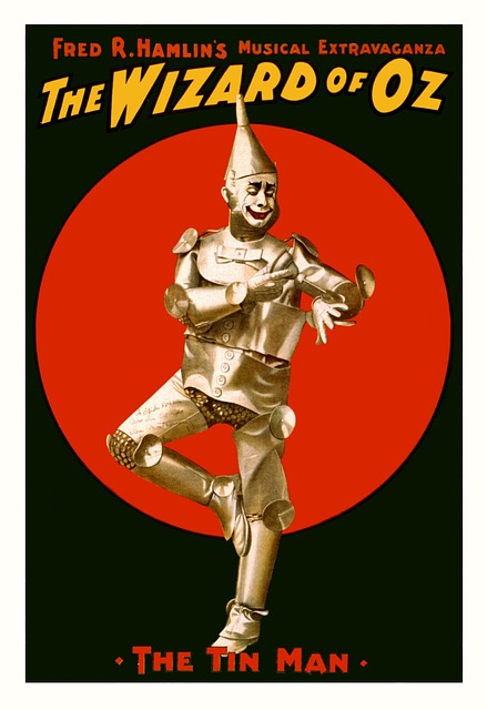 Wizard of Oz flier displaying the Tin Man.