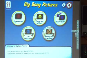 Big Bang Pictures, a software programs from Inclusive TLC for cause and effect that work really well for kids