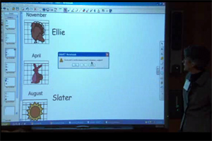 One of the activities that some of the kids do or have done using the Notebook software.