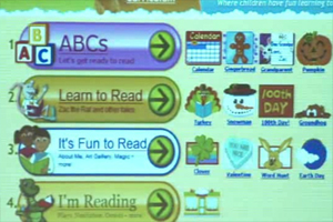 Star Fall, a website that targets early literacy activities.