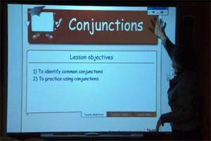 Conjunctions activities in the  Notebook.