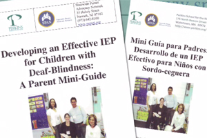 Cover of a booklet titled, IEP Meeting Checklist for Parents of Children with Deaf-Blindness.