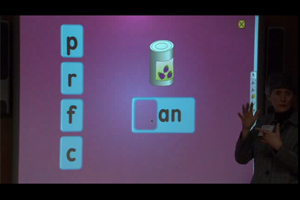 An interactive activity with the phonetic groups in learning words