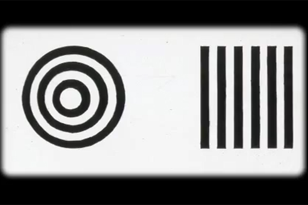 An example of how Teller's stripe stimuli would be presented to a test subject.