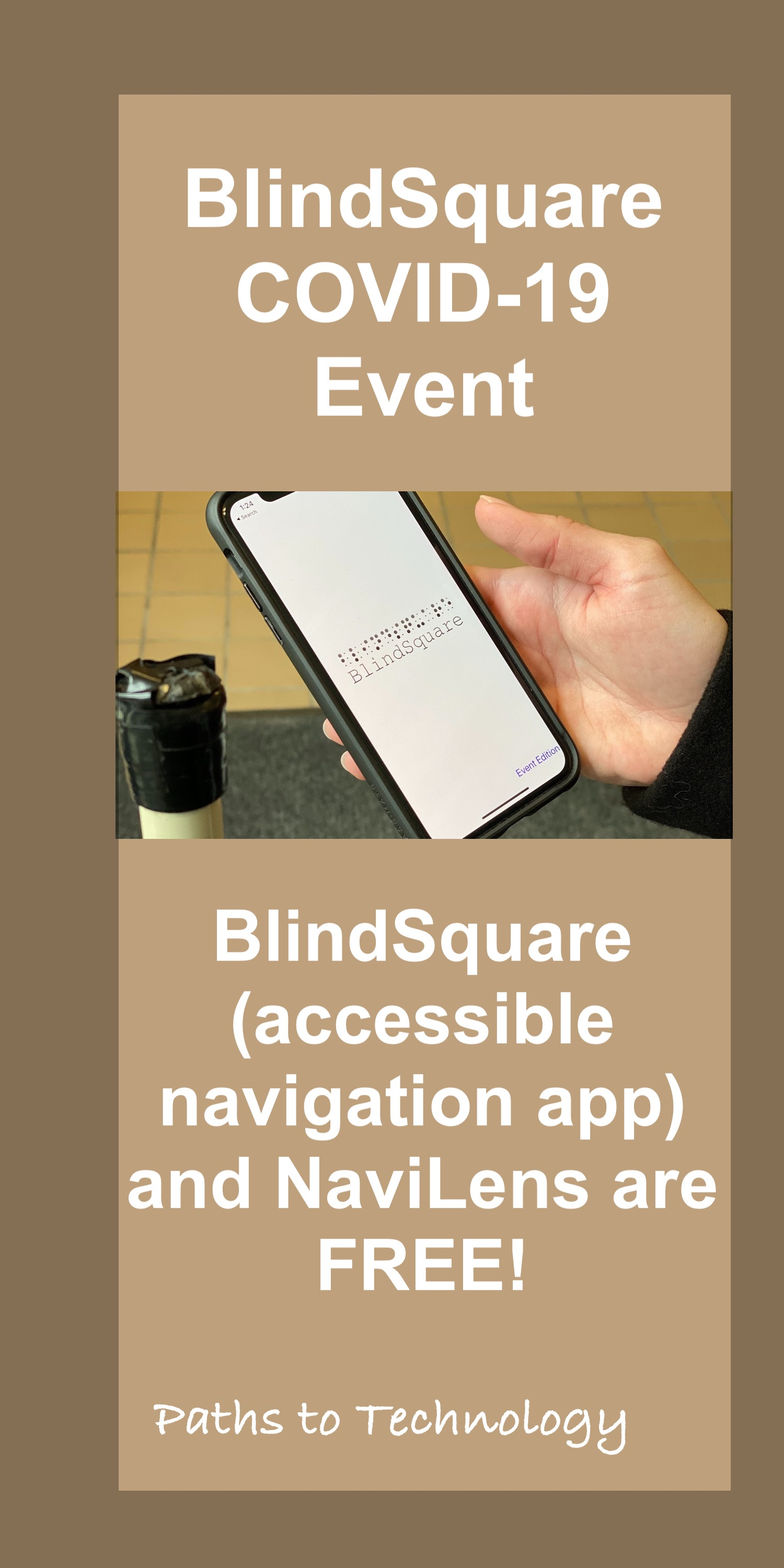 BlindSquare EVENT COVID-19 Pin