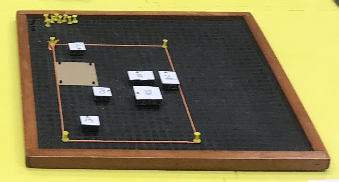 Photo of small city model using APH Graph Board and tactile materials.