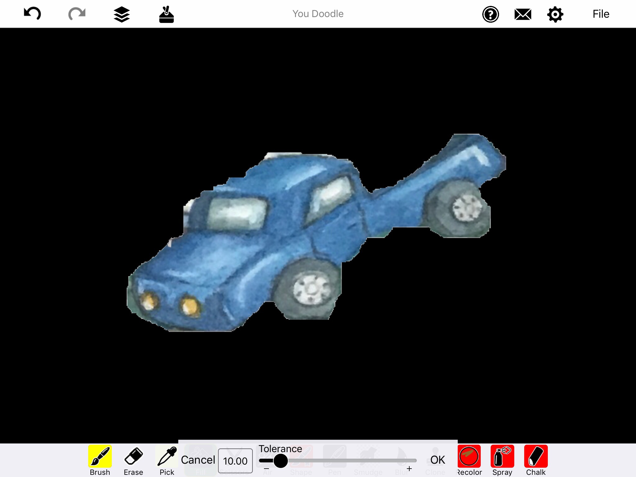 Screenshot of Blue Truck on solid black background.