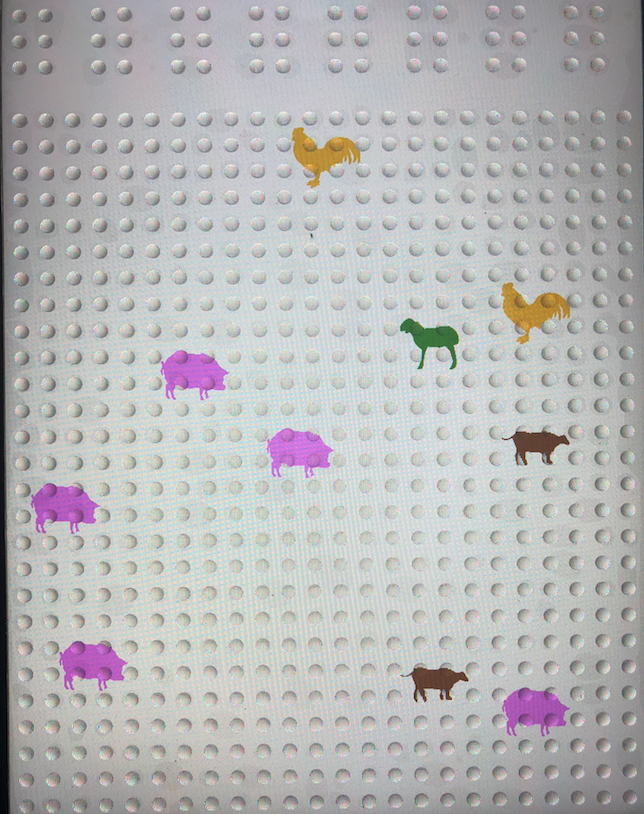 Feelif Farm Game with farm animals scattered around the screen.
