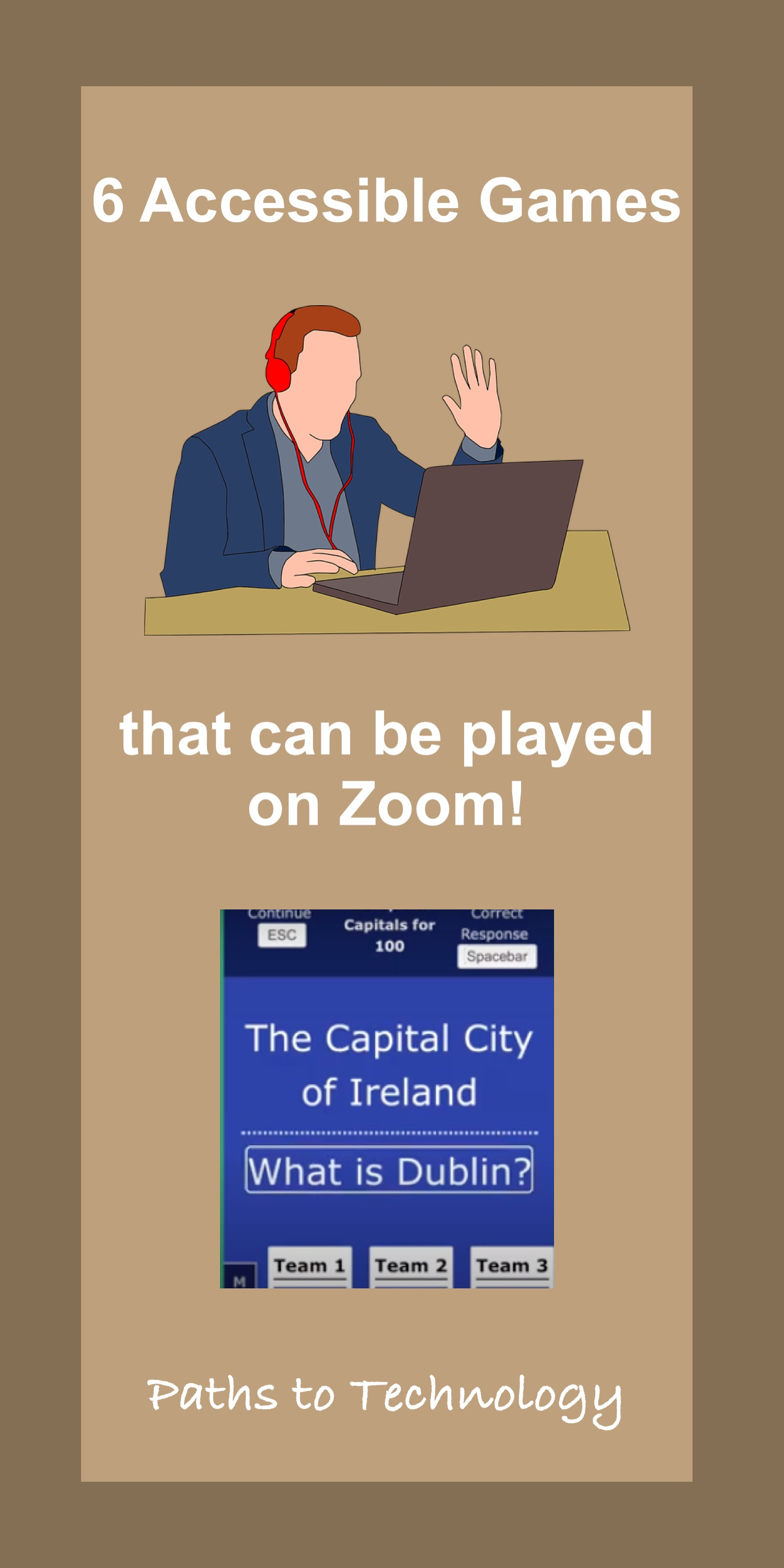 Six Games Played on Zoom Pinterest Pin