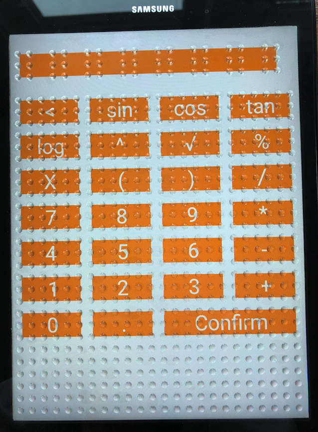 Feelif Graph: screen displays numbers and symbols that can be inputted to create a math equation.