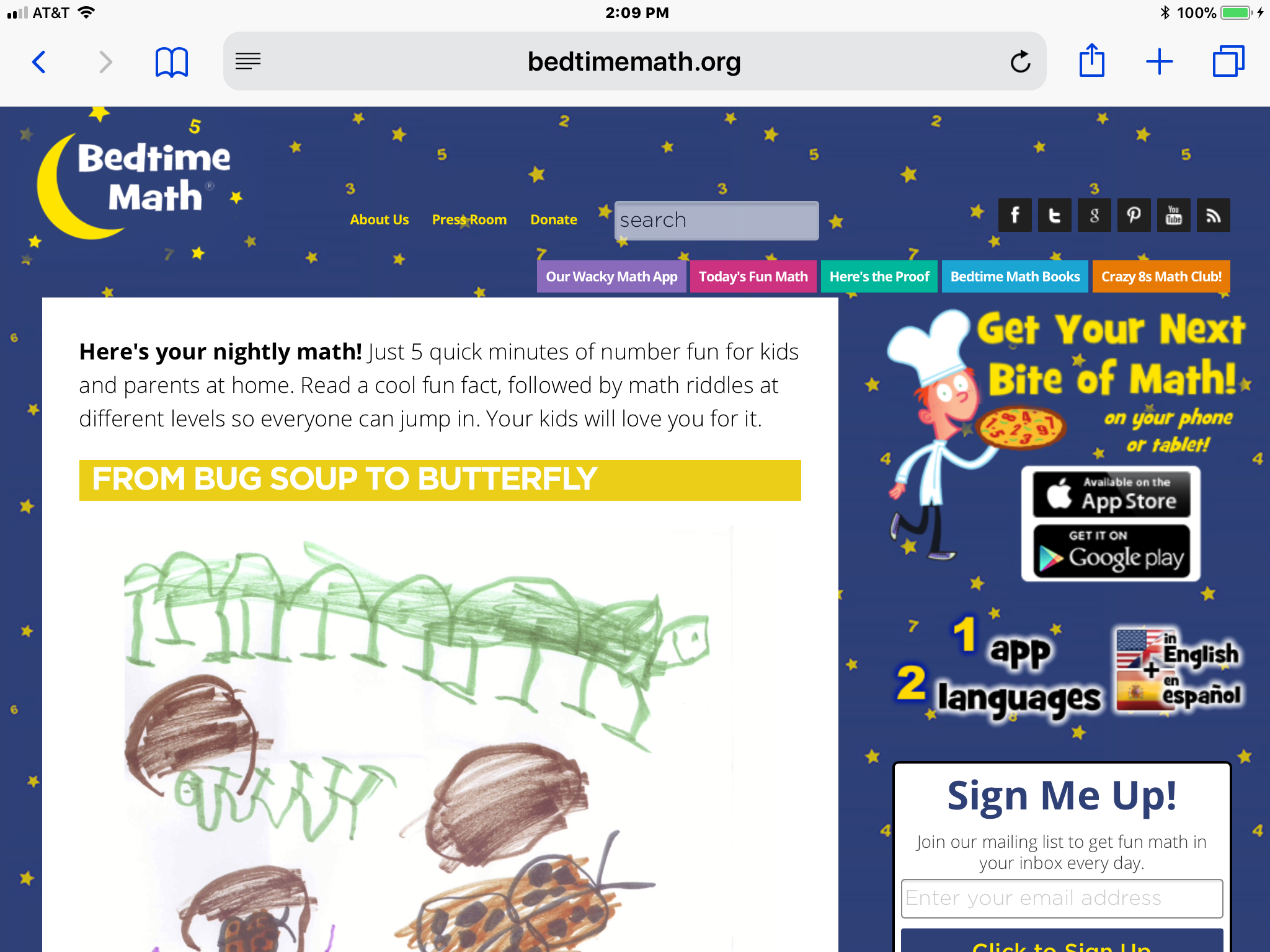 Accessibility Review of Bedtime Math Website and App | Paths to ...