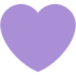 small purple heart emoji