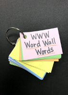 Packet of individual Word Wall Words on a ring.