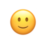 Emoticon: small yellow smiley face