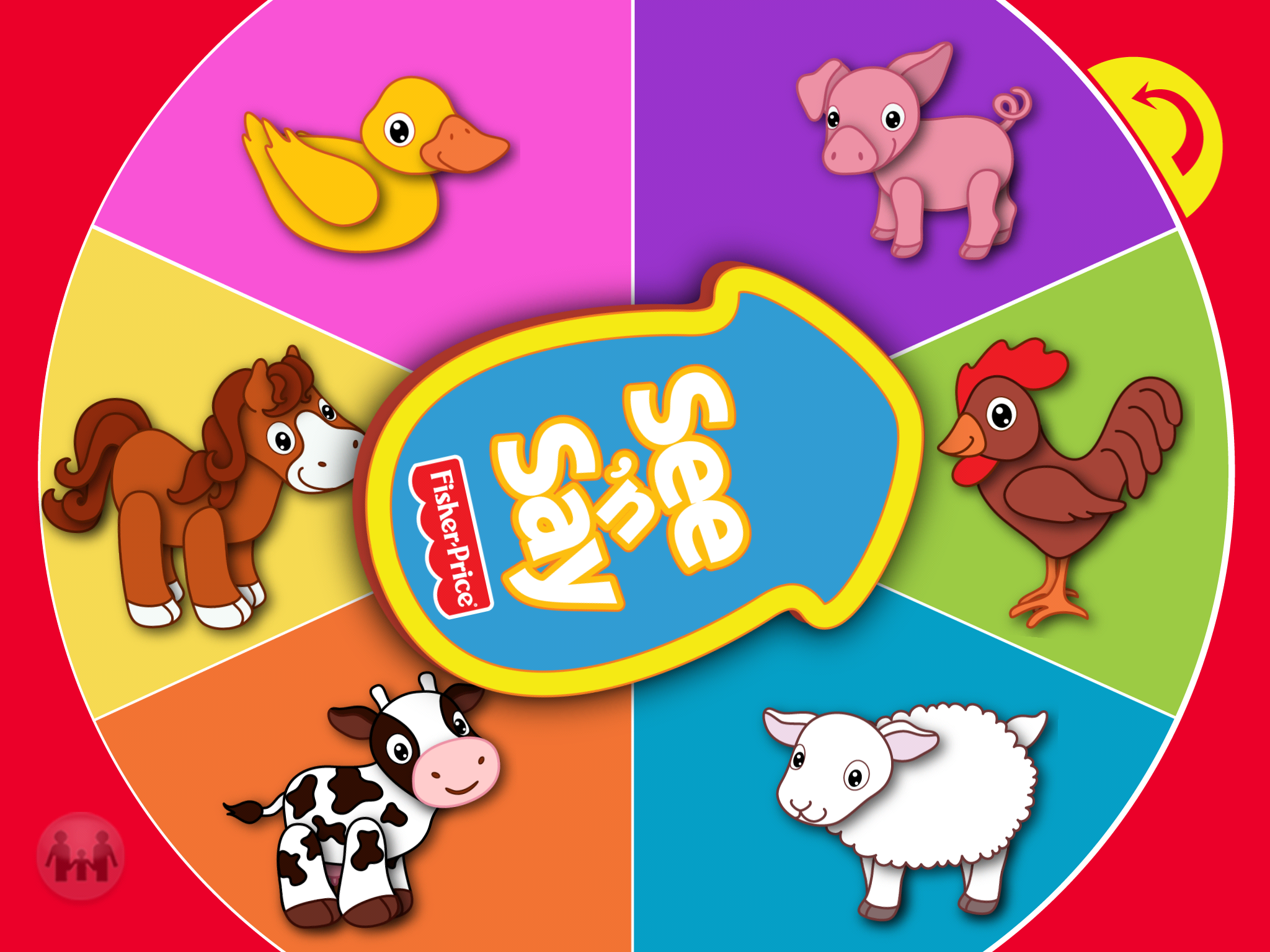 Screenshot of See 'n Say app
