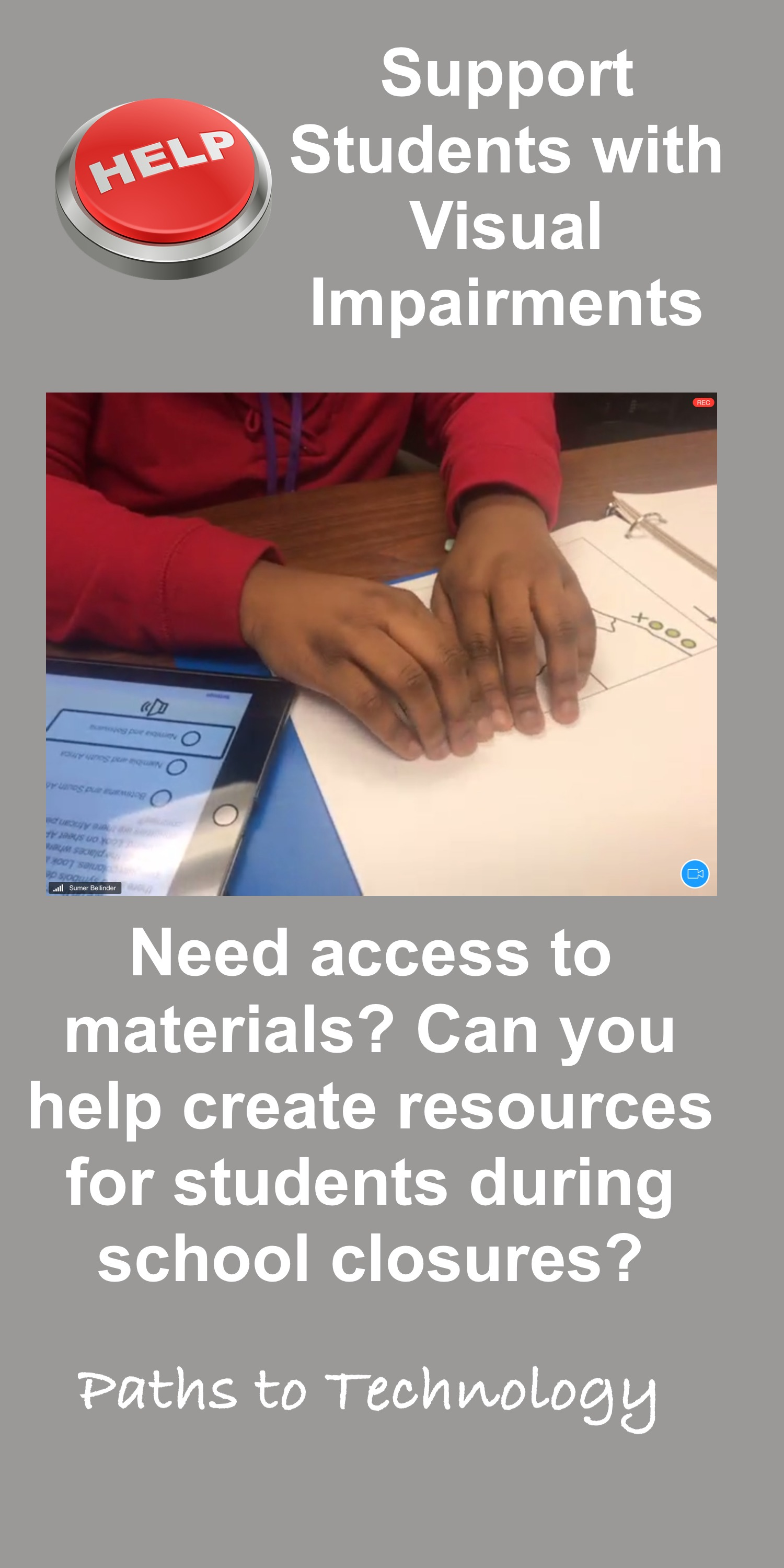 Support Students with Visual Impairments Pinterest tag
