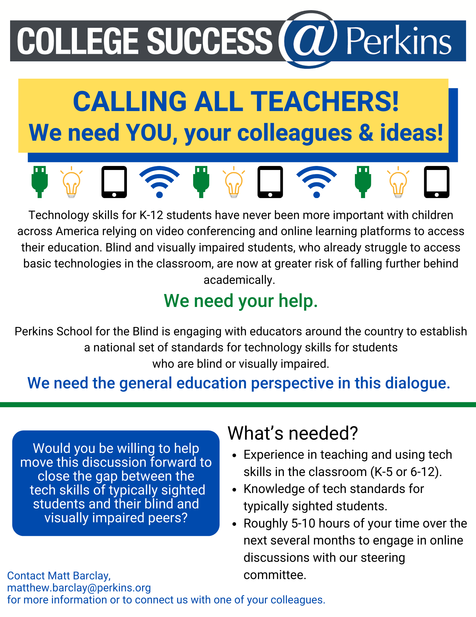Tech Steering Committee Flyer: full text below the flier and attached PDF file
