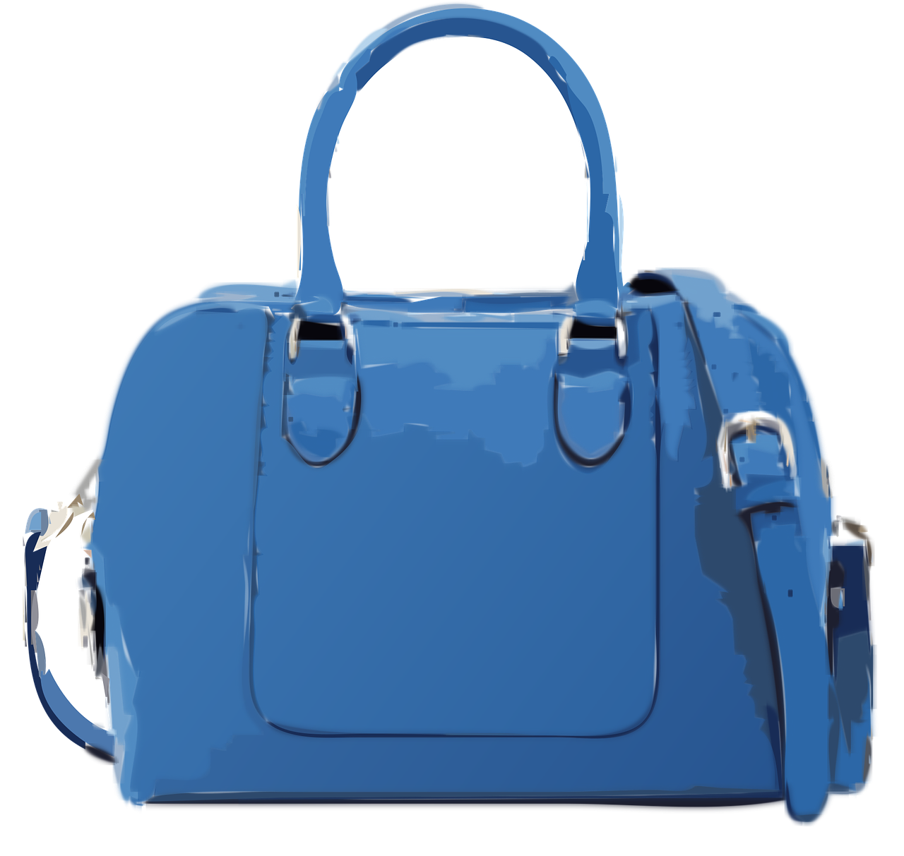 large blue purse