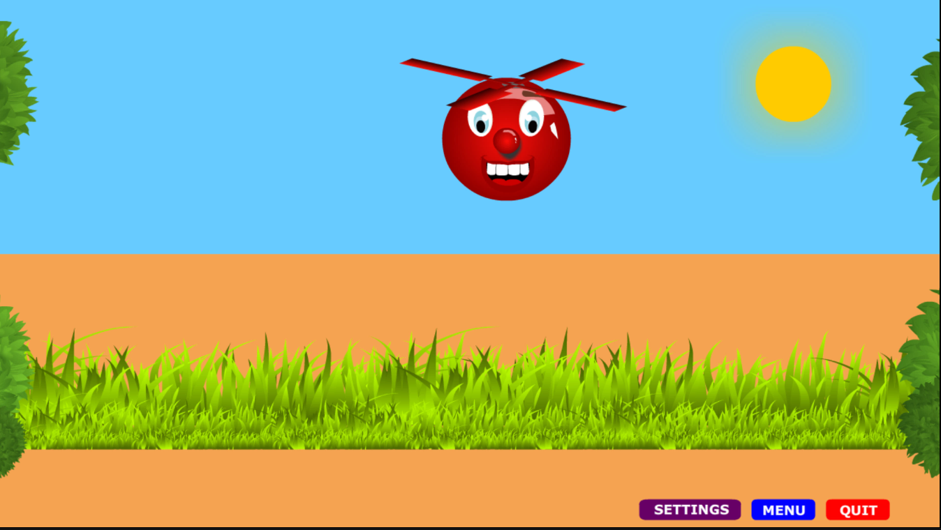 Screenshot of Ballicopter's Spacebar Game