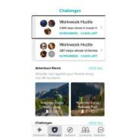 "Screenshot of the ""challenges"" area of the app"
