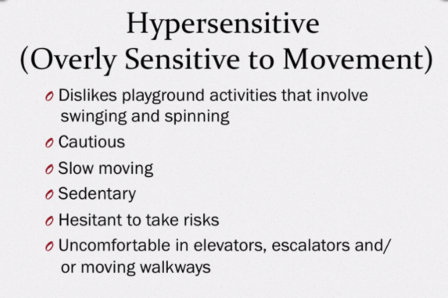 A graphic that shows what hypersensitivity looks like.