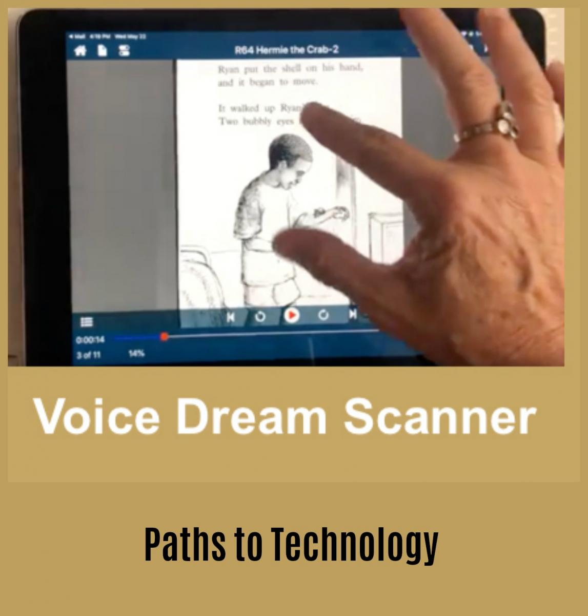 Collage of Voice Dream Scanner