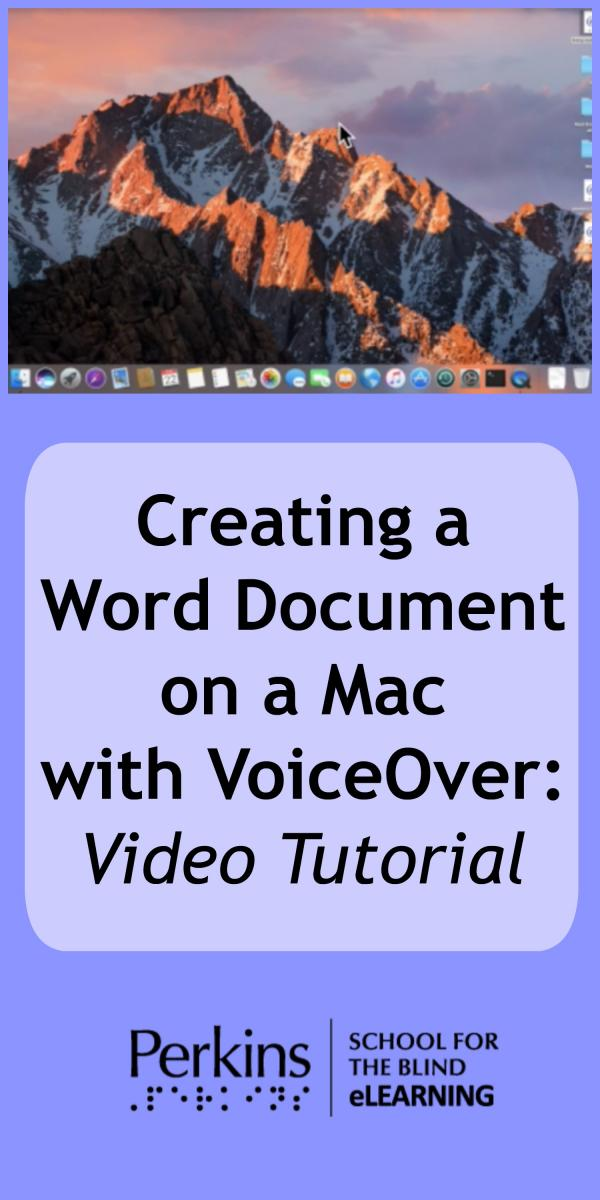 Collage of creating word document with VoiceOver