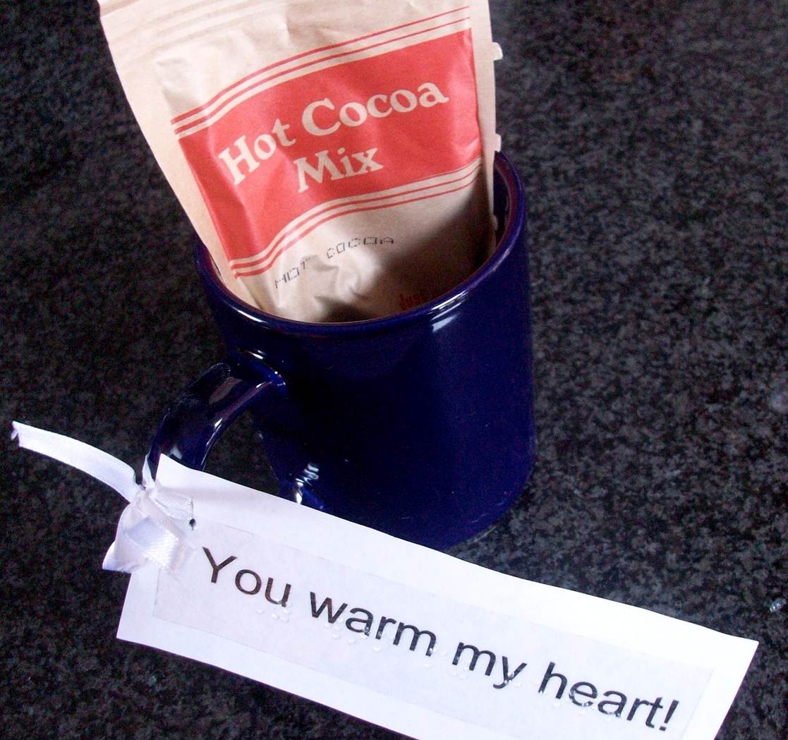 Hot chocolate for valentines gift, you warm my heart.